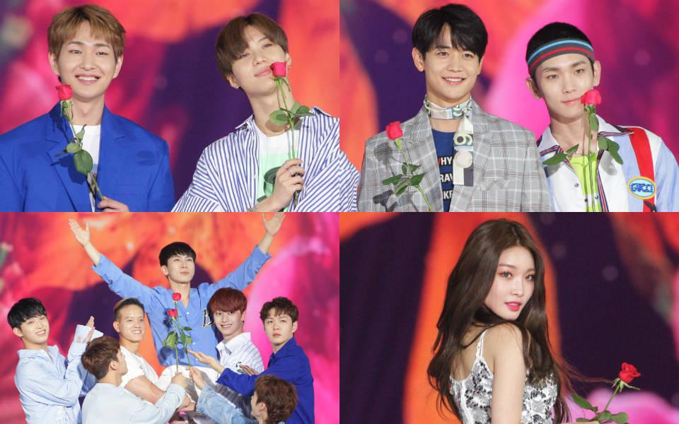 KSTAR 2018 KOREA MUSIC FESTIVAL Day2 フラワーカーペット