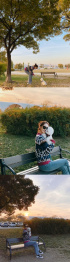 少女時代ユナ、愛犬レオとお散歩
